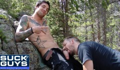 Seth Chase Sucks Off Ethan Ever in the Woods