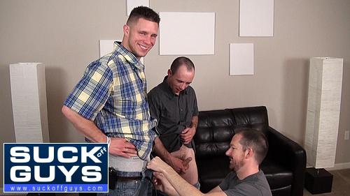 Seth Chase Sucks Off Walker Michaels and Shane Stride