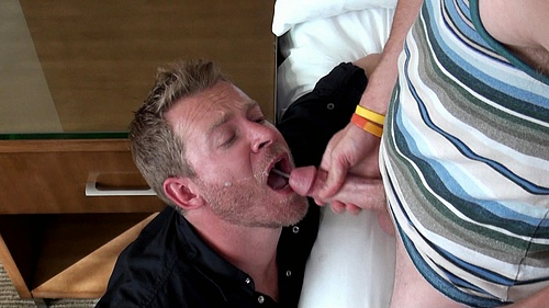 Evan Shoots His Cum Into Aaron's Mouth