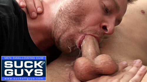Gay men swallowing spunk