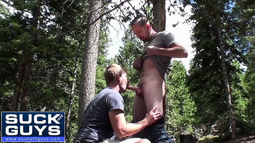 Mountain Cum Swallowing with Aaron French & Seth Chase