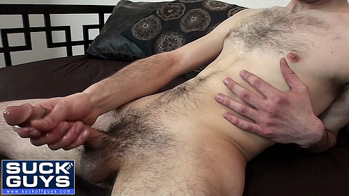 Hairy Straight Guy Donates his Sperm to Gay Cock Suckers Stomach