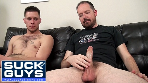 Walker Michaels Looking at Seth Chase's Hard Dick