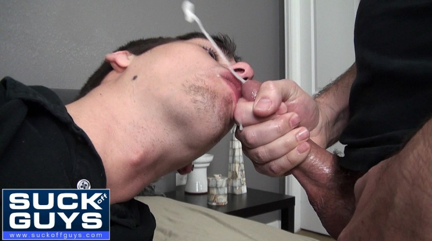 Seth Chase Delivers a Huge Load to the Face of Aiden Carter