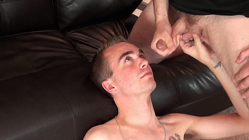 Hayden Alexander Dreaming of a Gay Cum Facial