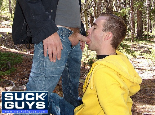 Hayden Alexander Sucks Off Aaron French in the Forest