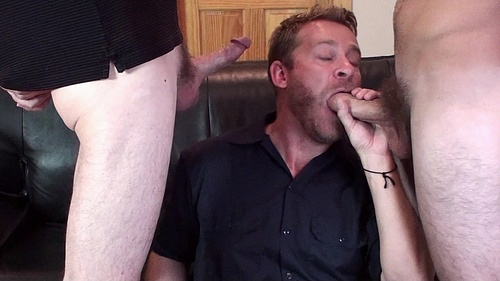 Sucking Two Cocks at Once