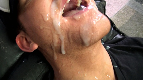 Addison Cooper's Mouth Gets Blasted by Seth Chase's Giant Cum Load