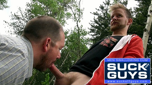 Seth Chase Sucks Hunter Oakley's Cock Under The Suck Me Tree