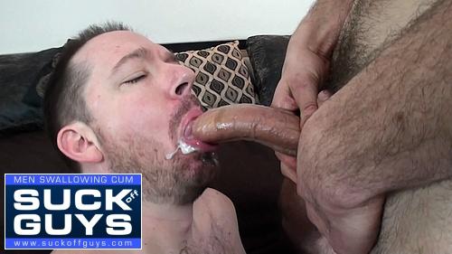 Seth Chase Swallows and Chokes on Ricks Huge Cum Load